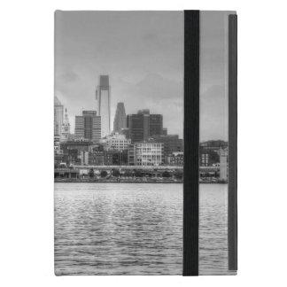 Philadelphia skyline in black and white iPad mini cases