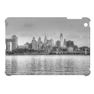Philadelphia skyline in black and white iPad mini covers