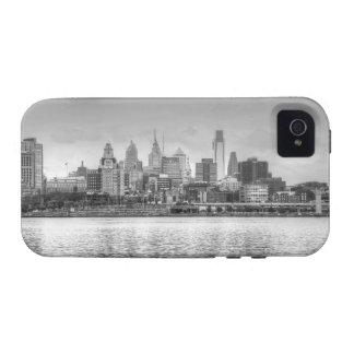 Philadelphia skyline in black and white iPhone 4/4S cases