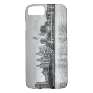 Philadelphia skyline in black and white iPhone 7 case