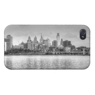 Philadelphia skyline in black and white iPhone 4/4S covers
