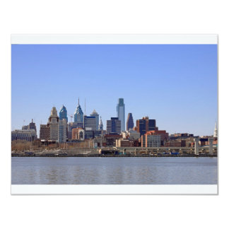 Philadelphia Skyline 4.25x5.5 Paper Invitation Card