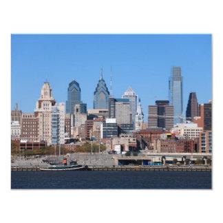 Philadelphia Skyline, Medium View 11 Cm X 14 Cm Invitation Card