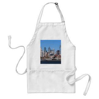 Philadelphia Skyline, Medium View Standard Apron