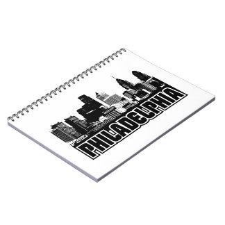 Philadelphia Skyline Notebooks