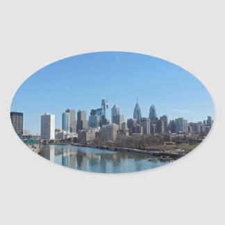 Philadelphia Skyline Oval Sticker