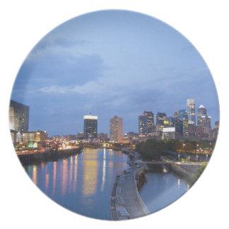 Philadelphia skyline plate