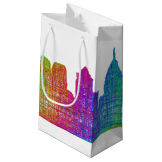 Philadelphia skyline small gift bag