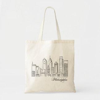 Philadelphia Skyline Tote Bag