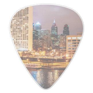 Philadelphia Skyline White Delrin Guitar Pick