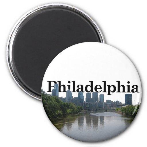 Philadelphia Skyline - with Phil. in the backgrnd Refrigerator Magnet
