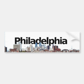 Philadelphia Skyline with Philadelphia in the Sky Bumper Stickers