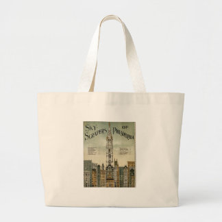 Philadelphia Skyscrapers 1898 Vintage Poster Bag