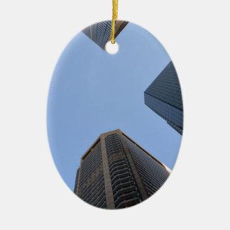 Philadelphia skyscrapers 2 ceramic oval decoration