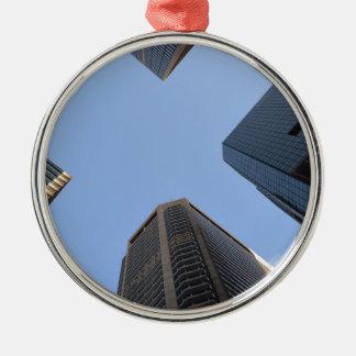 Philadelphia skyscrapers 2 Silver-Colored round decoration