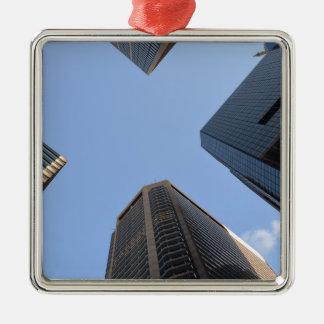 Philadelphia skyscrapers 2 Silver-Colored square decoration