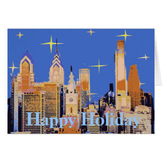 Philadelphia Starry Holiday Card