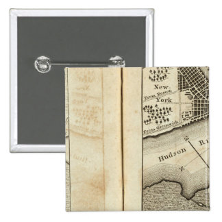 Philadelphia to New York Road Map 15 Cm Square Badge