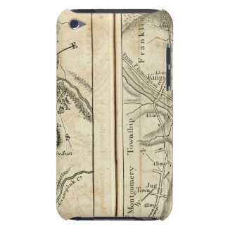 Philadelphia to New York Road Map 2 iPod Touch Case-Mate Case