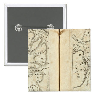 Philadelphia to New York Road Map 3 15 Cm Square Badge