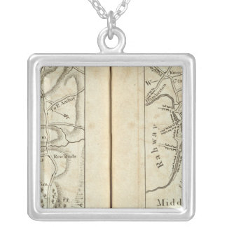 Philadelphia to New York Road Map 3 Silver Plated Necklace