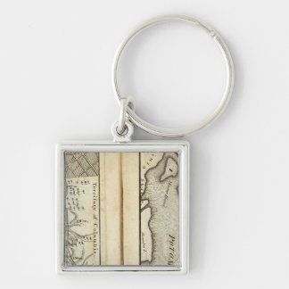 Philadelphia to Washington Road Map 2 Key Ring