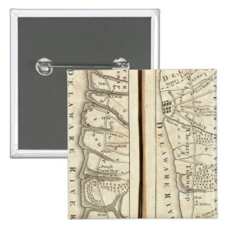Philadelphia to Washington Road Map 4 15 Cm Square Badge