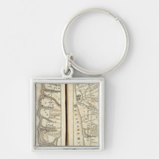 Philadelphia to Washington Road Map 4 Key Ring
