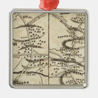 Philadelphia to Washington Road Map Christmas Ornament