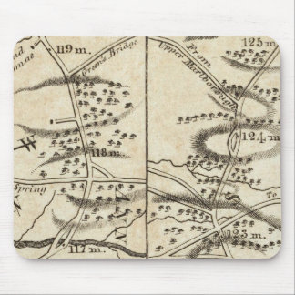 Philadelphia to Washington Road Map Mouse Mat
