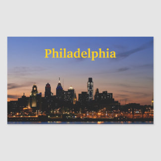Philadelphia Twilight Skyline Sticker