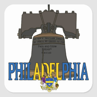 Philadelphia USA Liberty Bell Square Sticker