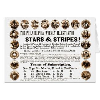 Philadelphia Weekly 1918 Stars & Stripes Newspaper Note Card