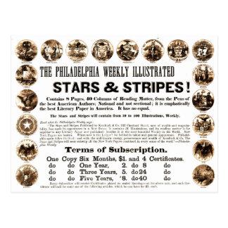 Philadelphia Weekly 1918 Stars & Stripes Newspaper Postcard