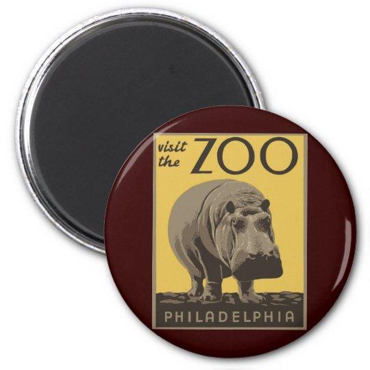 Philadelphia Zoo 6 Cm Round Magnet