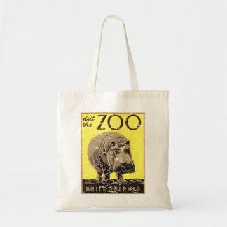 Philadelphia Zoo-Hippo Tote Bag