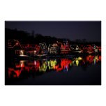 Philadelphia's Boathouse Row at Christmas Poster