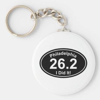 Philadelpia Marathon Basic Round Button Key Ring