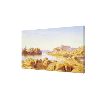 Philae, Egypt, 1863 (oil on canvas) Canvas Print