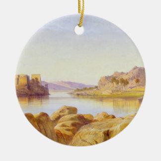 Philae, Egypt, 1863 (oil on canvas) Christmas Ornament