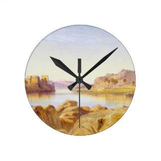 Philae, Egypt, 1863 (oil on canvas) Round Clock