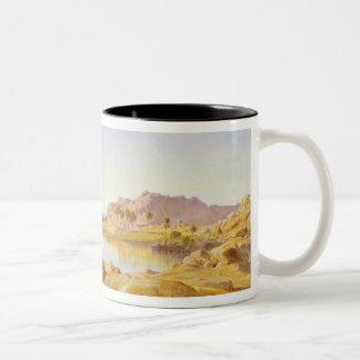 Philae, Egypt, 1863 (oil on canvas) Two-Tone Coffee Mug
