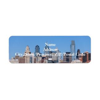Phildadelphia Skyline Label Return Address Label