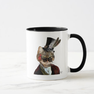 Phileas Feline Steampunk Cat & Top Hat 2 Mug