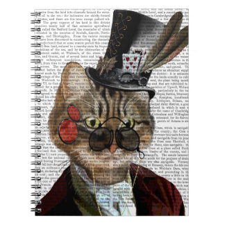 Phileas Feline Steampunk Cat & Top Hat 2 Spiral Notebooks