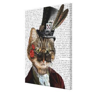 Phileas Feline Steampunk Cat & Top Hat Canvas Print