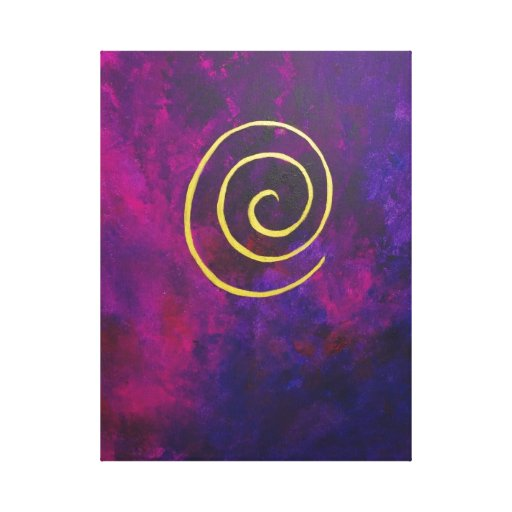 Philip Bowman Infinity Deep Purple Decorative Art Gallery Wrapped Canvas