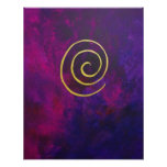 Philip Bowman Infinity Deep Purple Decorative Art Poster
