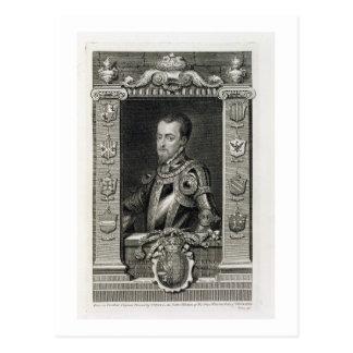 Philip II (1527-98) King of Spain from 1556, engra Postcard