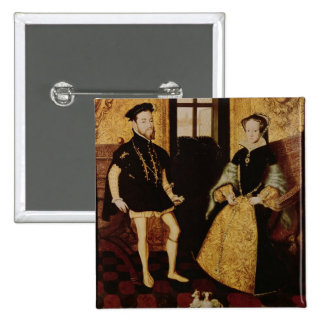 Philip II and Mary I, 1558 15 Cm Square Badge
